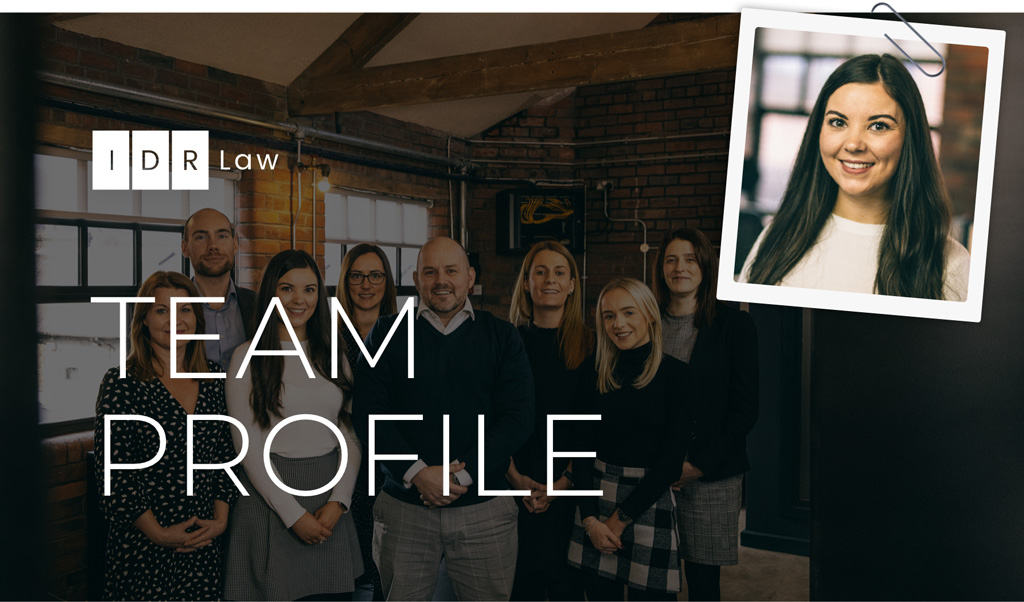 IDR Law team with headshot of Kate Wootton attached